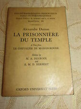 Antique Collectable Book Of Alexandre Dumas La Prisonniere Du Temple - 1933