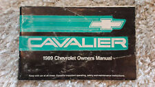 1989 CHEVROLET CAVALIER OWNERS MANUAL