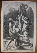 N. LASTMAN ´DIE KREUZIGUNG PETRI; CRUCIFIXION OF ST PETER´ GUIDO RENI, RAR ~1610