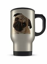14oz Aluminium Travel Mug - Pug Face