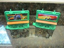 Fisher Price Geo Trax Train Track pieces lot billboard sign road part town city