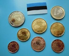 ESTONIA  coins - EESTI - 2011 official EURO coin set - from bank rools