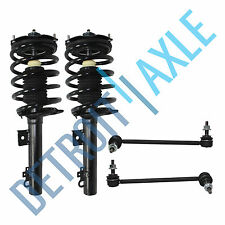 4 pc Kit - Front Left and Right Pair Ready Strut Assembly and 2 Sway Bar Link