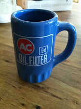 New AC Delco Oil Filter Blue Coffee Mug Cup Tea GM Chevy 1965 66 67 68 Vintage