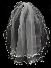 """Unotrim Girls 1st Communion Wedding White Veil 2 Layers Tulle Veil with Comb 30"""""""
