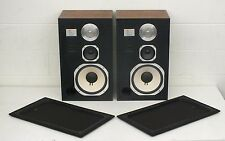 Vintage 1981 JBL L96 High-End 3-Way Speakers Oiled Walnut Cabinets EXCELLENT