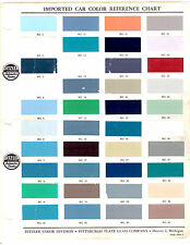 1952 1953 1954 1955 1956 1957 1958-1970 DITZLER IMPORT CAR PAINT CHIPS MANUAL 70