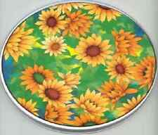 Green Sunflower Flower Garden Electric Round Stovetop Burner Covers 4 pcs