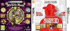 Professor Layton and the Miracle Mask & James Noir's Hollywood Crimes new&sealed