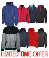 New Unisex Mens Ladies Hooded Sweatshirt Plain Hoodie Top Pullover Hoody S-XXL