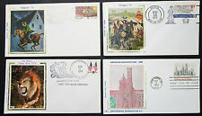 Silk Cachet US Postage Set of 4 Covers Letters Envelopes FDC USA Briefe (H-8344