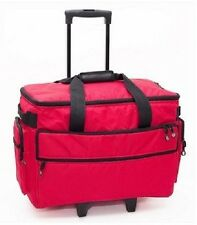 Sewing Machine Trolley Case Rolling On Wheels Luggage Travel Storage Carrier NEW