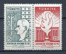 30915) TURKEY 1958 MNH** Ataturk 2v. Scott# 1431a pair