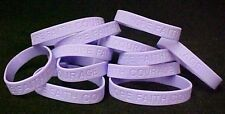 Lavender Awareness Bracelets Lot of 50 Silicone Jelly General Cancer IMPERFECT
