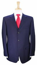 * CANALI EXCLUSIVE * Recent Navy w/ Sky Blue Stripes Super 200's Wool Suit 40R