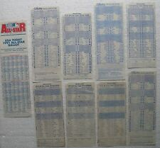 Lot of 9 Gillette Major League Baseball All Star Game Voting Ballots 1973-1991