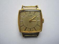 Russische Luch Damen Armbanduhr Vintage mechanisch 60er Jahre vergoldet