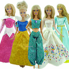 SALE 5 COPY Fairy Tale Pretty Princess Dress Outfit Gown Clothes For Barbie Doll