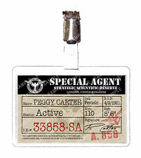 Agent Peggy Carter SSR Marvel ID Badge Card Cosplay Prop Costume Comic Con
