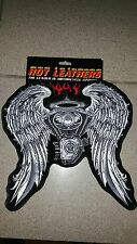 Asphalt angel wings patch large motorcycle