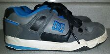 DC SKATE SHOES GRAY BLACK & BLUE  YOUTH BOYS SIZE 5.5  ATHLETIC