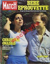 Paris Match n°1524 11/08/1978 Christina Onassis Brel Saint-Tropez Rostropovitch