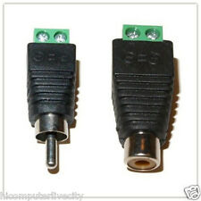 New 5pair Speaker Wire cable to female male RCA Connector Adapter Jack Plug LED