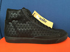 NIKE BLAZER MID METRIC QS sz 14 BLACK-BLACK 744419-001 GEOMETRIC Sneaker Roshe