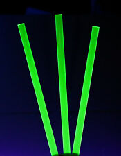 "5 PCS 1/2"" DIAMETER CLEAR GREEN FLUORESCENT ACRYLIC PLEXIGLASS ROD 12"" INCH LONG"