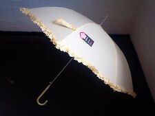 Susino Cream Automatic Frill Wedding Parasol/Umbrella
