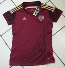 Team Russia Womens Official Soccer Jersey Adidas Size M Maroon 2014