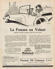 Y9472 MOBILOIL - La Femme au Volant... - Pubblicità d'epoca - 1925 Old advert