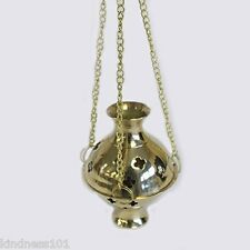 Hanging Brass Incense Burner, 3 Chains, perfect for Resin