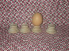 4 UNFINISHED WOODEN EGG STANDS *NEW* Wood Marble Ball Hardwood Display Cup