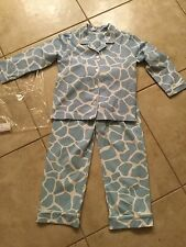 NWT Kelly's Kids boys blue and white knit pajamas 5-6