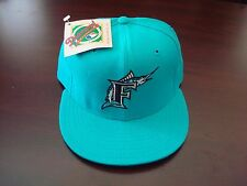 FLORIDA MARLINS DIAMOND-COLL FITTED  7 3/8 NEWERRA VINTAGE HAT CAP 1990'S WOOL