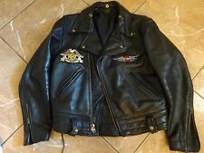 VTG HARLEY DAVIDSON POLICE MOTORCYCLE SPORT LEATHER JACKET M/L MEN 60S TALON