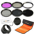 NEW 77mm Filter UV CPL FLD ND2 4 8 + Lens Hood + Cap for Canon 6D 5D Mark II III