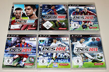 6 ps3 jeux collection pro evolution soccer pes 2008 2009 2010 2011 2012 2013