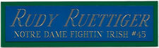 RUDY Ruettiger NOTRE DAME NAMEPLATE FOR YOUR AUTOGRAPHED SIGNED FOOTBALL JERSEY