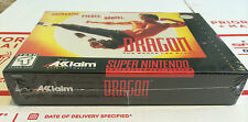 Brand New Mint - DRAGON The Bruce Lee Story SNES Super Nintendo NIB CIB RARE HTF
