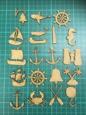 mdf  wooden nautical /ships / anchor/ various /shape /  sign / stencil