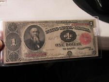1891 $1 Large Size Treasury Note  High Range Condition  BEAUTIFUL  NOTE   FR351