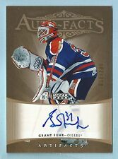 GRANT FUHR 2005 UPPER DECK ARTIFACTS AUTO-FACTS SIGNATURE AUTOGRAPH AUTO /100