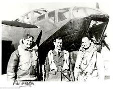 10x8 B&W photograph signed Rae Walton MC RAF WWII WW2 evader Coastal Command
