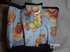 TEDDY BEARS ASSORTMENT  PRINT CLOTH BINGO BAG HANDMADE