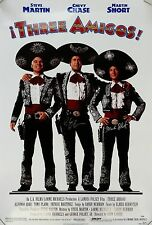 Chevy Chase Martin Short Dual Signed Three Amigos 27x40 Movie Poster Photo PSA