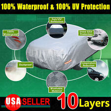 10 Layer A5 Car Cover SOFT Seam Sun UV Outdoor Dust Dirt Rain Waterproof Resist