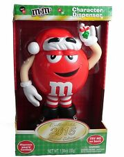 M&M M&M'S RED 10 INCH  MISTLETOE Candy Dispenser 2015 CHRISTMAS LIMITED EDITION