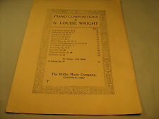 Vintage Sheet Music AT EVENING by N Louise Wright 1921 [Y35]